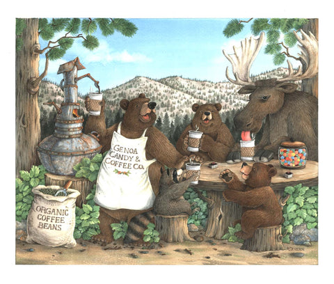 """Mountain Brew"" Giclee Print"