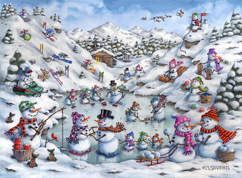 """Fun At Snow Mountain"" Giclee Print"
