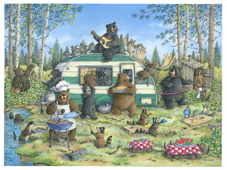 """Happy Campers"" Giclee Print"