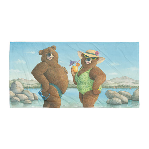"""Kodiak Moment""  Beach Towel"