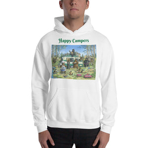 """Happy Campers"" Hooded Sweatshirt"