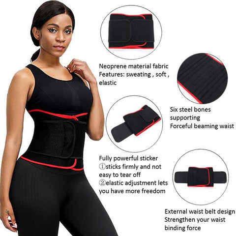 Fabulous Fit Rose Red Weight Loss Waist Cincher Smoothlines