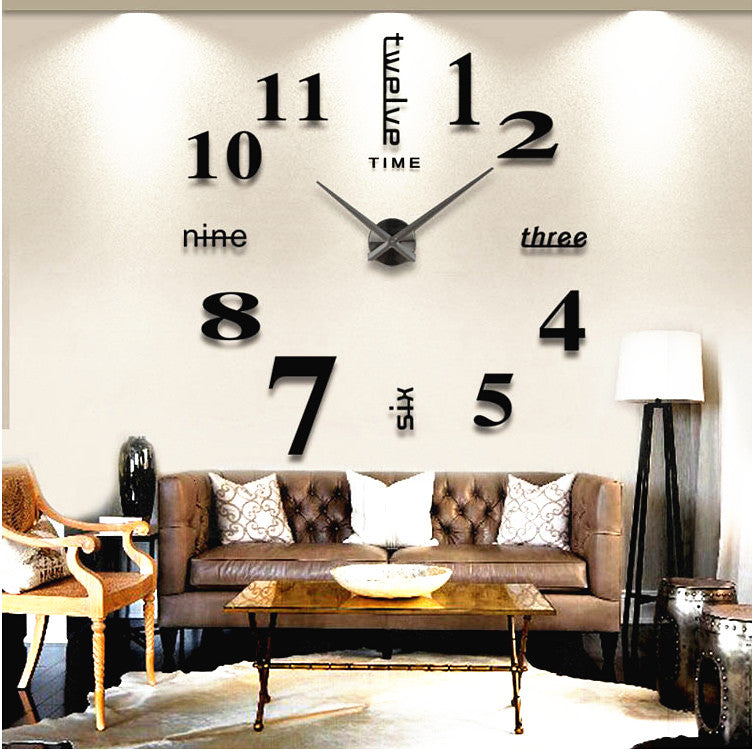 Giant 3D Clock For Home/Office Decoration - 47INCHES/120CM