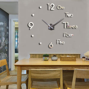 3D Clock For Home/Office Decoration - 47INCHES/120CM