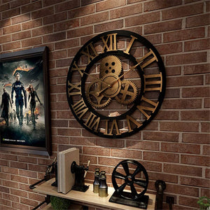 Wood Rustic Vintage Decoration clock