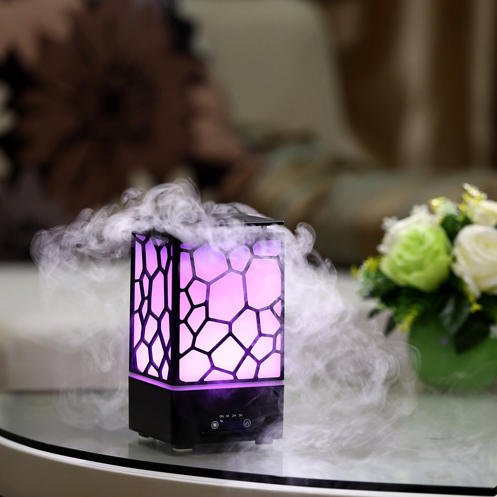 2 IN 1 Essential Oil Diffuser Aroma Ultrasonic Humidifier 7 Color Changing Night