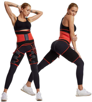 3 in 1 Fat Burner Slimming Body Shaper Belt - Anti Cellulite Butt Lifter