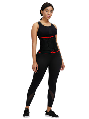 Ultimate Necessary Red Neoprene Waist Shaper Sticker Steel Bones Workout