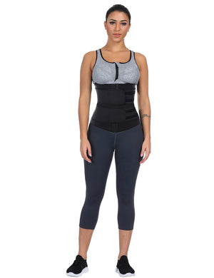 Black Size Slimming Tummy Latex Waist Trainer Weight Loss