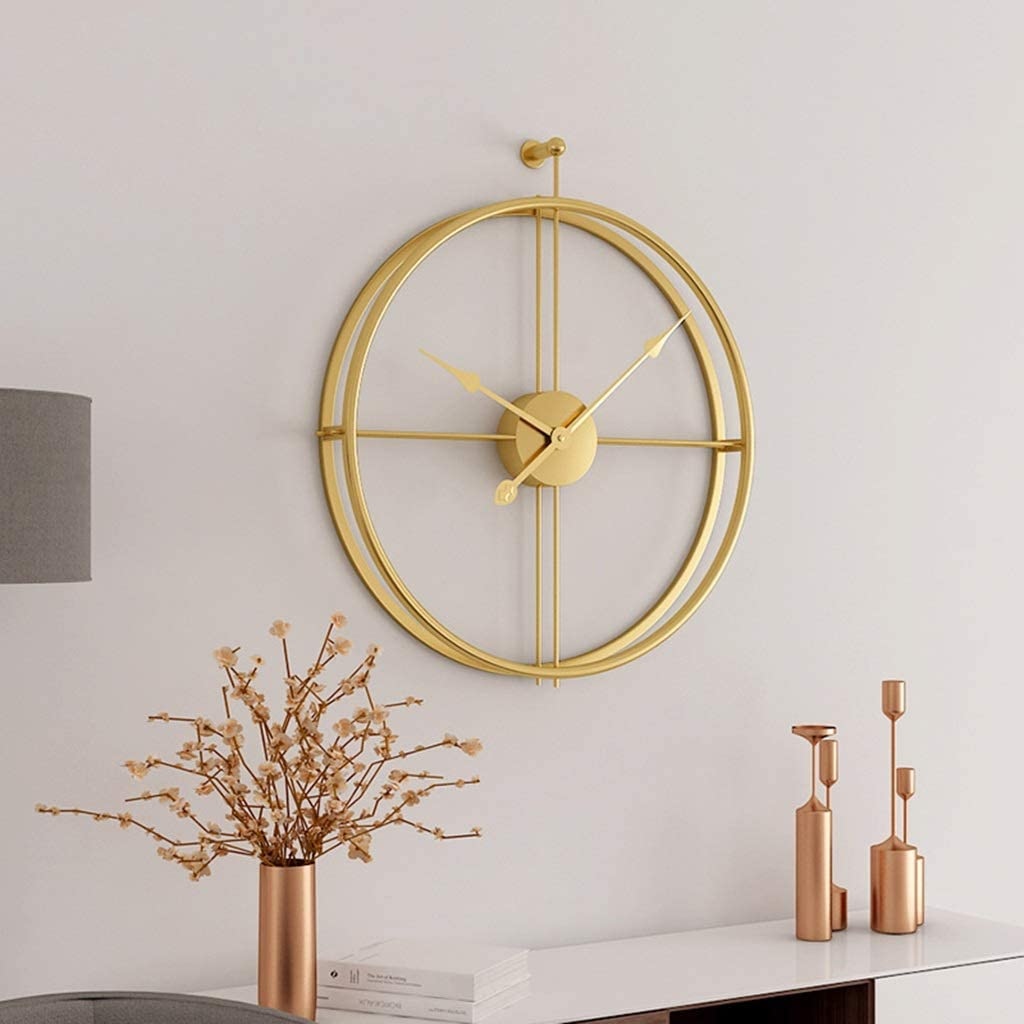 "20"" Simplistic Style Home Décor Analog Black Metal Clock"
