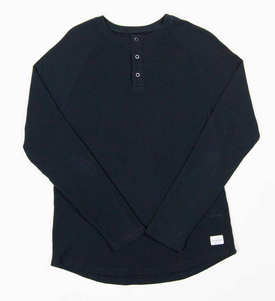 Knit Waffle Henley