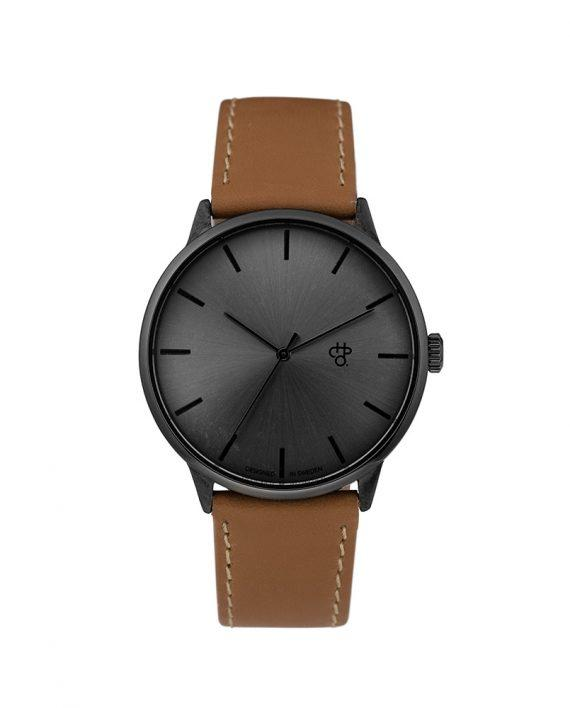 KHORSHID FUNK METAL | Gun Metal/Funky brown vegan leather strap