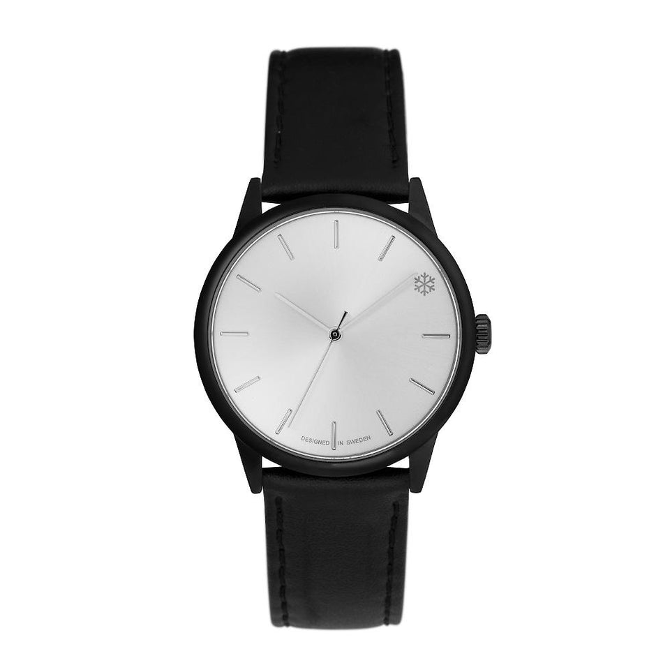 POW BLACK/BLACK VEGAN LEATHER STRAP