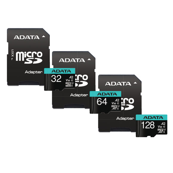 ADATA Premier Pro micro SDHC UHS-I U3 A2 V30S Card with Adapter