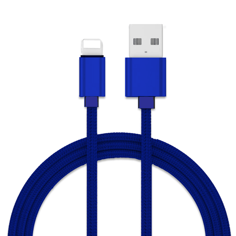 Premium Silk-braided Lightning-type Cable - Blue