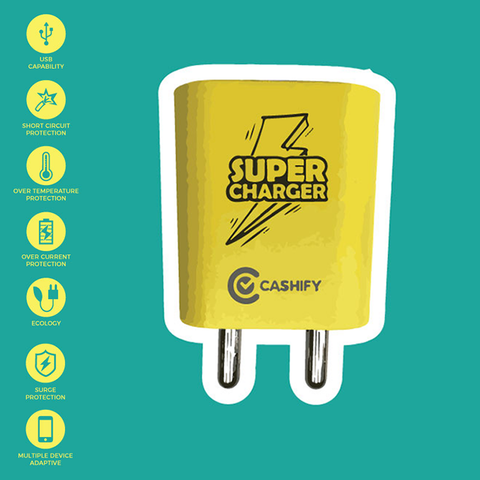 Cashify Super Charger - Premium Charging Adapter with USB port