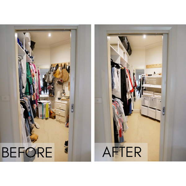 The Organising Platform Before and After Wardrobe
