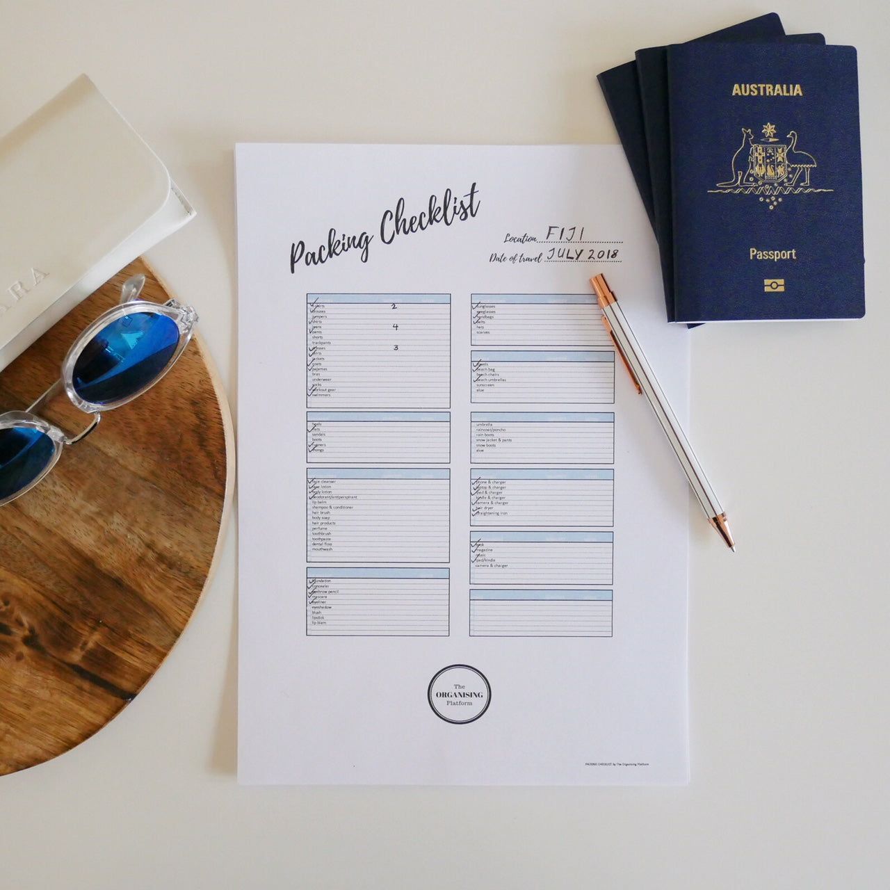 FREE Editable Travel Packing Checklist