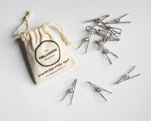 NEW - Stainless Steel Clothes Pegs