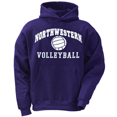 Northwestern Wildcats Purple Volleyball Hoodie