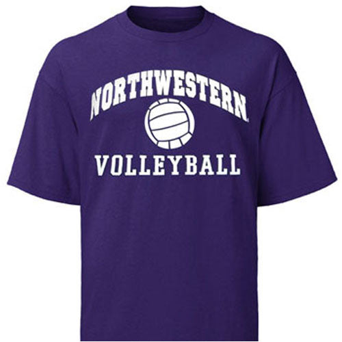 Northwestern Wildcats Purple Northwestern Volleyball T-Shirt