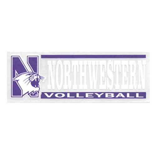 Northwestern Wildcats Volleyball Decal