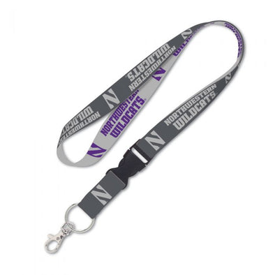 Northwestern Charcoal Lanyard