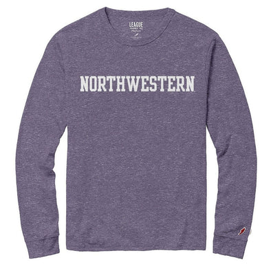 Northwestern Wildcats Twisted Tri-Blend T-Shirt-Long Sleeve