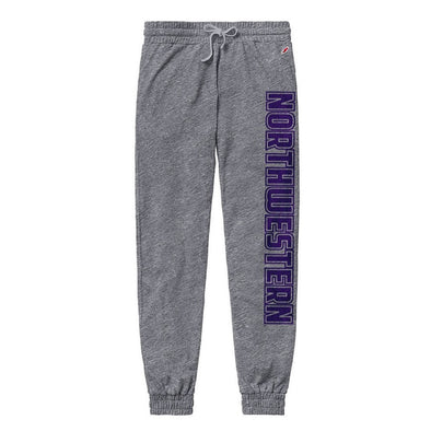 Northwestern Wildcats Victory Springs Ladies Jogger Pant-Heather Grey