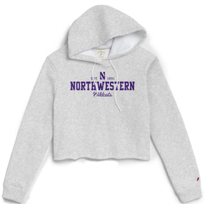 Northwestern Wildcats Ladies Cropped Hooded Sweatshirt