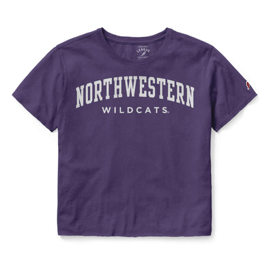 Northwestern Wildcats Ladies Clothesline Crop Tee