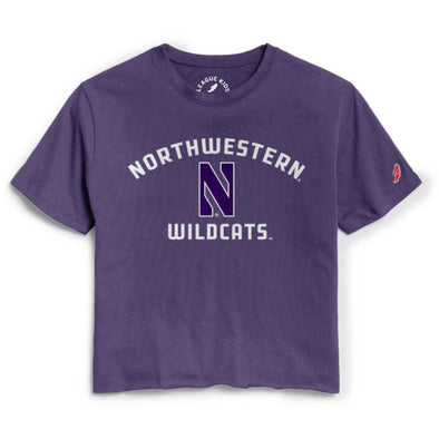 Northwestern Wildcats Girls Cut Off Tee-Youth