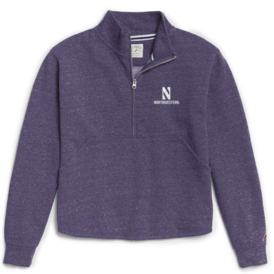 Northwestern Wildcats Ladies Victory Springs Zip Pullover Sweatshirt-Purple