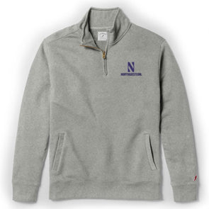Northwestern Wildcats Men's  Stadium Quarter Zip-Grey