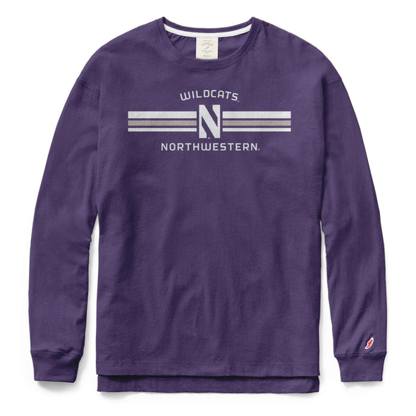 Northwestern Wildcats Ladies Clothesline Cotton Long Sleeve Tee