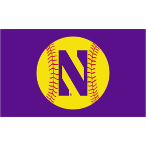 Northwestern Wildcats 3 x 5 Softball Flag