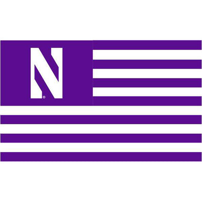 Northwestern Wildcats Stripe Flag