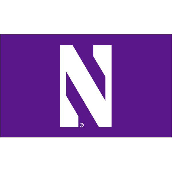 Northwestern Wildcats 4' X 6' Purple N Flag