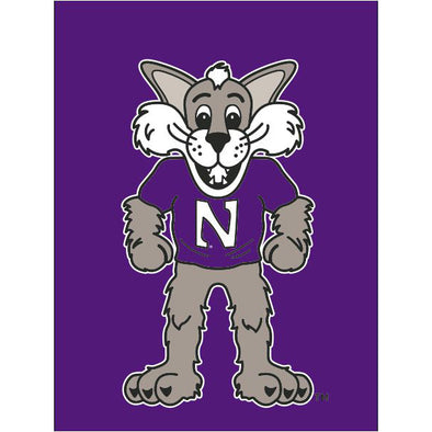 Northwestern Wildcats Willie The Wildcat Banner