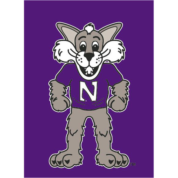 Northwestern Wildcats Willie The Wildcat Garden Flag