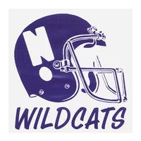 Northwestern Wildcats Football Helmet Window Decal