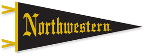 Northwestern Wildcats Mid Size  Gothic Pennant