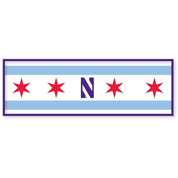 Northwestern Wildcats Chicago's Big Ten Team Pennant