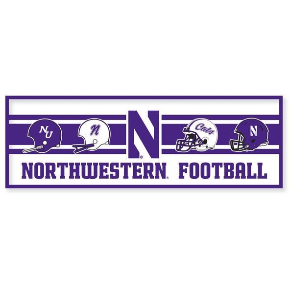 Northwestern Wildcats Football Pennant 12 x 36