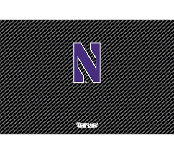 Northwestern Wildcats Carbon Fiber Tervis:  32 oz. Water Bottle