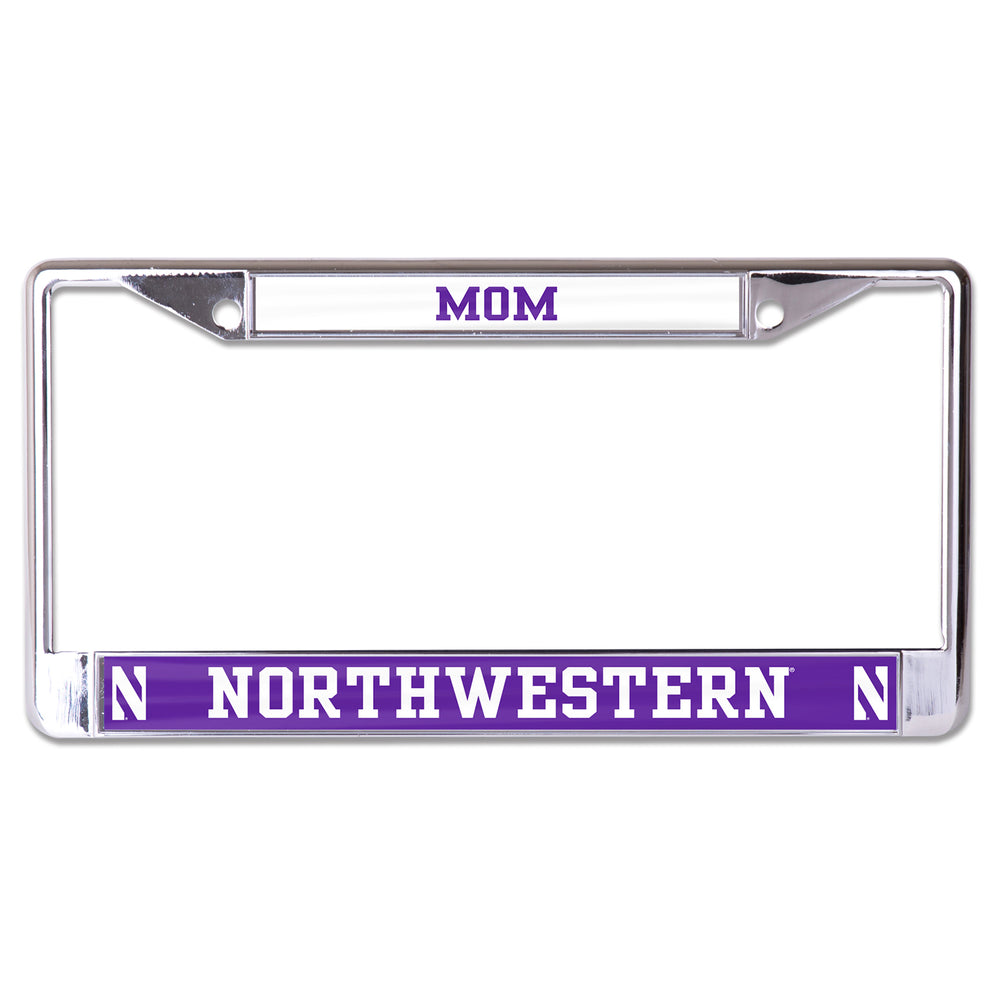 Northwestern Wildcats Mom License Plate Frame