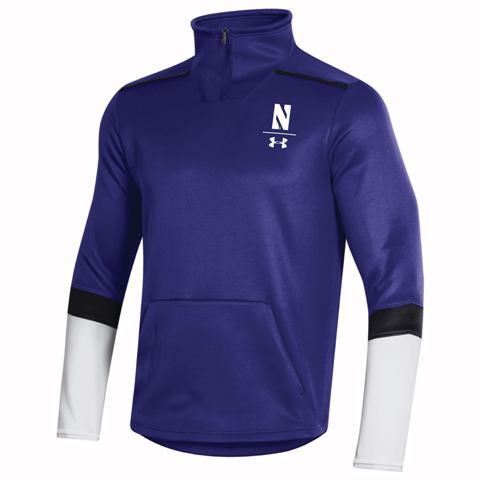 Northwestern Wildcats Under Armour Purple Sideline Quarter Zip-Men's