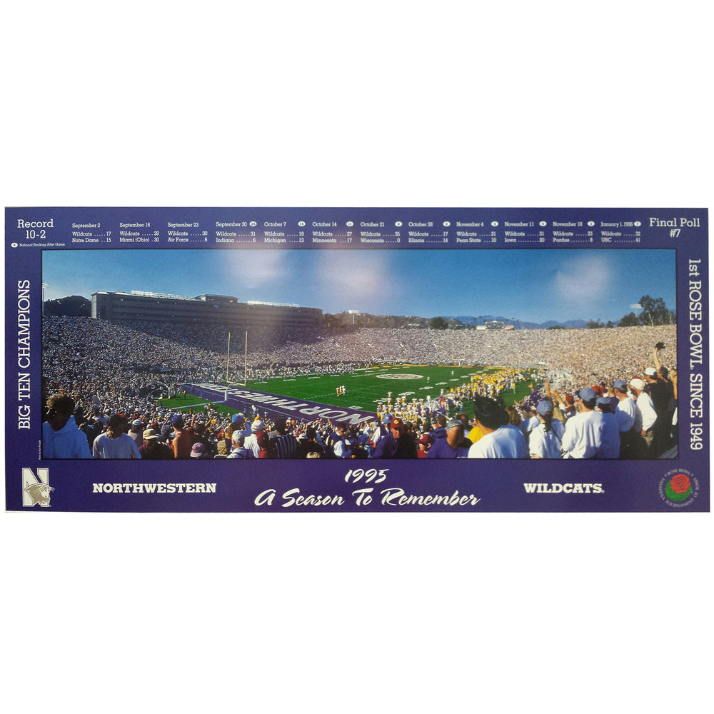 Northwestern Wildcats Rose Bowl Poster