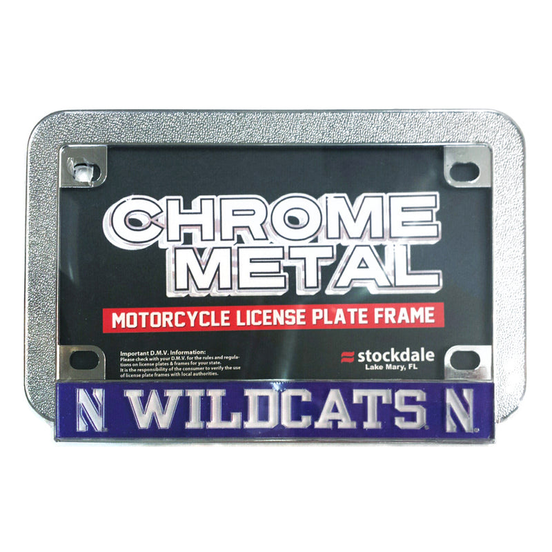 Northwestern Wildcats Motorcycle License Plate Frame