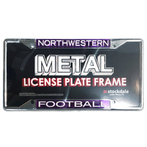 Northwestern Wildcats Football License Plate Frame